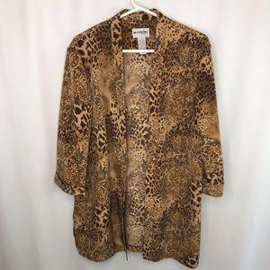 Perceptions Leopard Print Jacket - Size 14